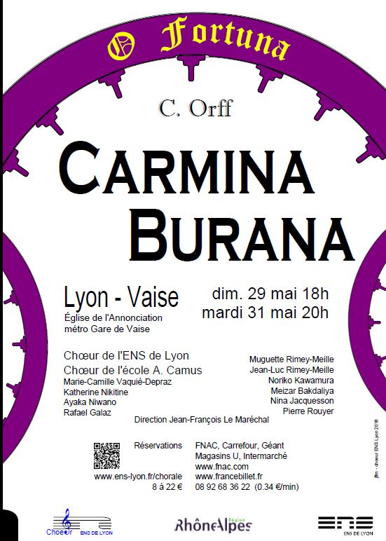 Concert les 29 et 31 mai à Lyon(Vaise)